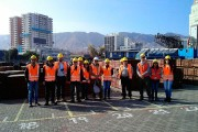 Académicos de la UA y CREA en patio de acopio