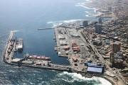 Puerto de Antofagasta de sur a norte